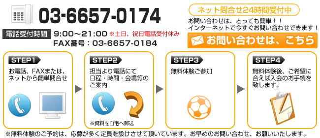 スフィーダサッカースクール東東京支部、西大井scの体験会お問い合わせ